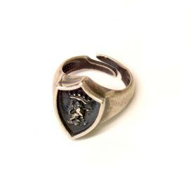 silberner lion Ring