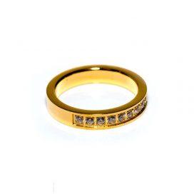 Gold Zirkon Ring